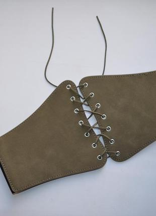 Корсет ремень с шнуровкой пояс с шнуровкой zara