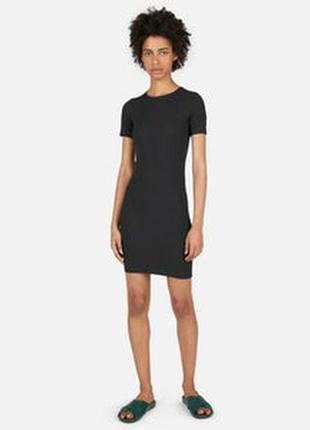 Фирменное коттоновое платье h&m, размер xs