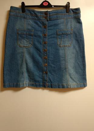 Джинсовая стрейч юбка 20/54-56 размера