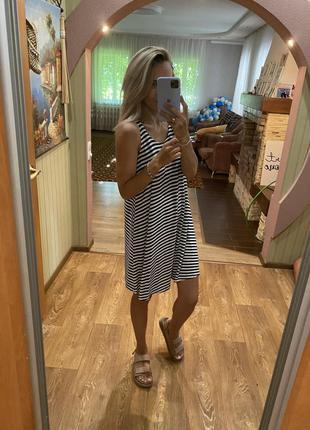 Платье тельняшка с карманами😋