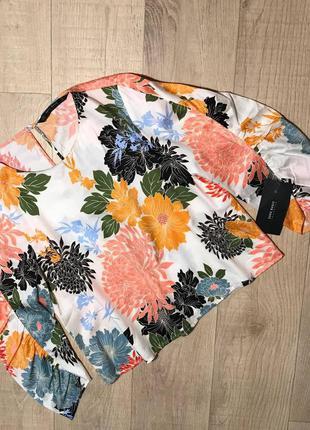 Блуза в цветочный принт zara 100% хлопок