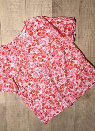 Красивая блуза в цветочный принт tulchan 100% хлопок