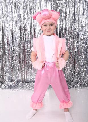 Детский маскарадный костюм поросенок хрюшка свинка 3-7 лет