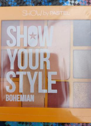Палетка теней bohemian show your style pastel