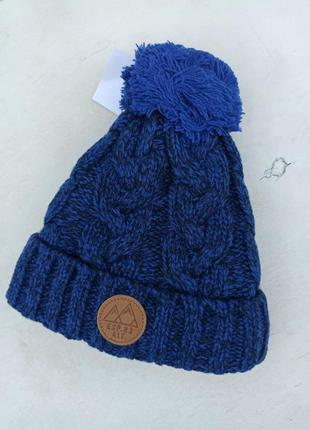 Зимова шапка для хлопчика на зріст 104-122.