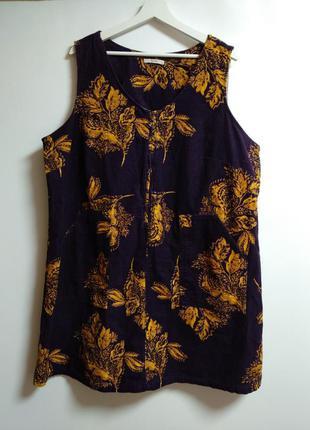 Актуальный вельветовый сарафан с карманами в принт 22/56-58 размера
