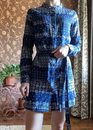 Платье рубашка, короткое платье от influence