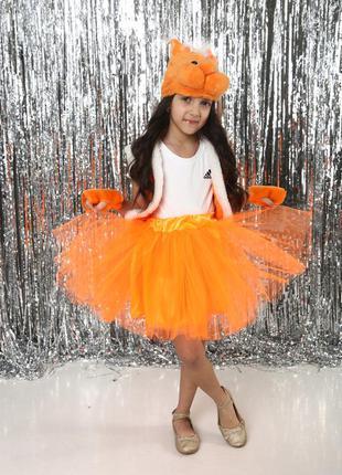 Новинка детский маскарадный костюм белочка для девочки 3-7 лет