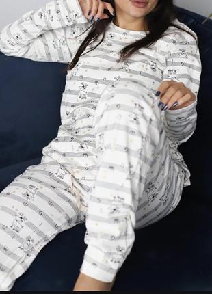 Пижама тёплая  женская хлопок