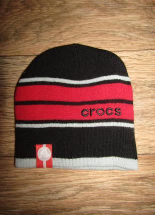 Двойная шапка 2-4года бренд crocs