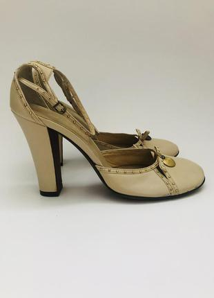 ❤️винтажные кожаные туфли asja bhay, (италия!)