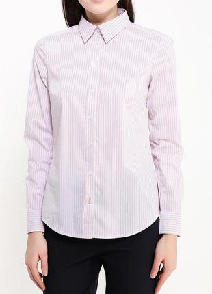 Рубашка стильная в полоску benetton италия
