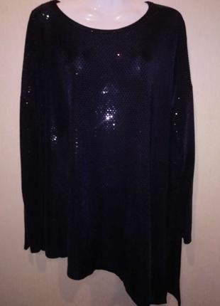 🌺 🌿 🍃 блуза нарядная паетки р.56 🌺 🌿 🍃