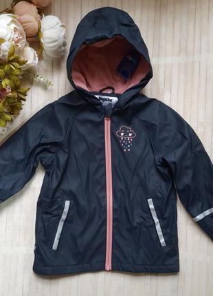 Куртка дождевик ветровка на флисе грязепруф lupilu