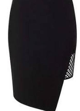 Sale miss selfridge черная асимметричная мини юбка