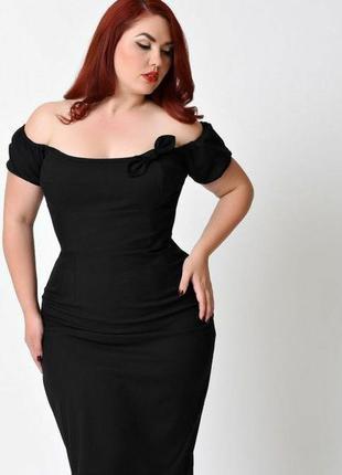 Короткое облегающее вечернее черное платье с открытыми плечами от new look