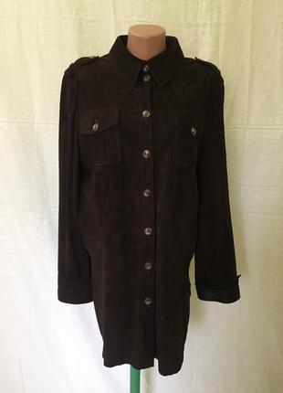 Женская куртка-рубашка basler кожа