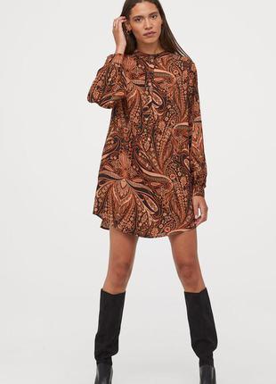 Richard allan x h&m короткое воздушное платье из вискозной ткани с рисунком