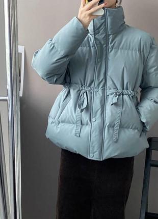 Теплая  куртка плащевка канада + силикон 200 + подкладка