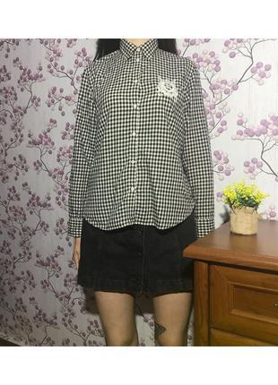 Женская рубашка в клетку ralph lauren