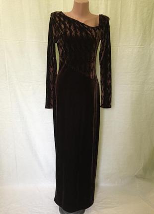 Женское платье велюровое annmaree chambers