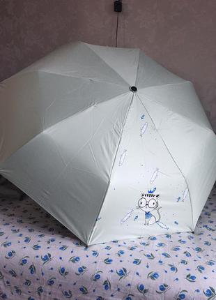 Зонтик зонт с принтом рисунком котиком котом складной механический женский мужской парасолька парасоля жiноча чоловiча