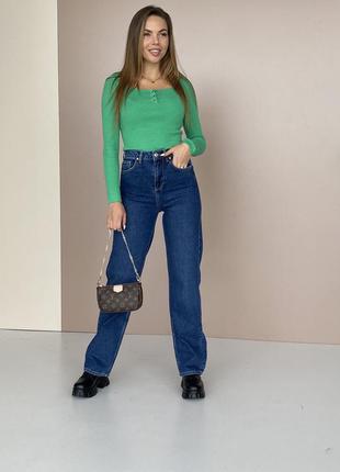 Очень крутые джинсы трубы, палаццо, клёш, прямые джинсы, синий denim
