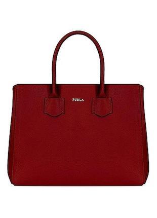Шкіряна сумочка сумка -шоппер від furla alba ♡