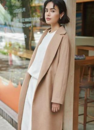 Пальто шерстяное женское uniqlo