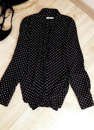 Блузка кофточка футболка рубашка горошек черная базовая классика zara h&m bershka primark asos next mango