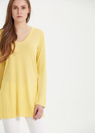 Лимонный тонкий   свитерок от zara