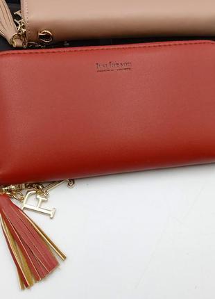Женский кошелек на молнии 133-1# red
