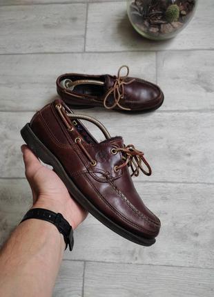 Кожаные туфли топсайдеры timberland topsiders