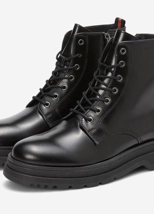 Мужские, демисезонные, кожаные ботинки marc o'polo