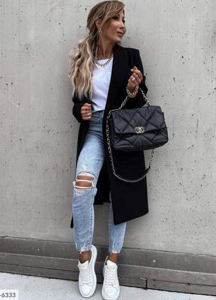 Черное пальто , пальто из кашемира, пальто на подкладе