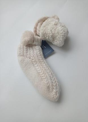 Lauren richards. домашние носки с мехом,тапки.