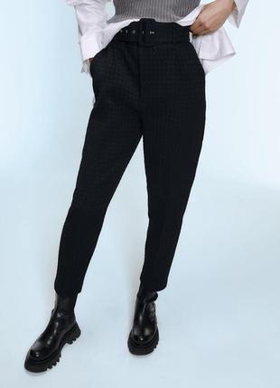 Крутые штаны брюки фактурные zara новых коллекций