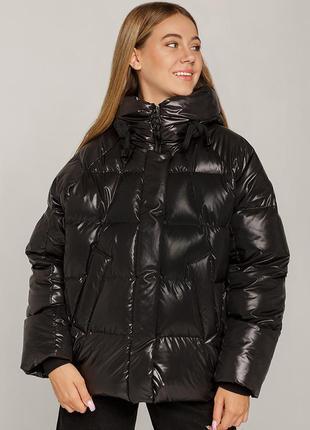 Зимний пуховик для девочек подростков джесика черный