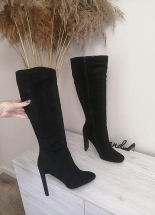 Шикарные ботфорты ботинки сапоги деми