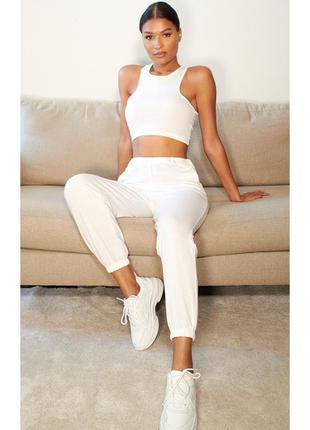Белые спортивные штаны/ повседневные штаны / джоггеры prettylittlethin