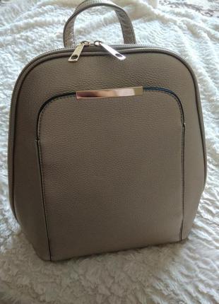 Стильный кожаный рюкзачок с италии