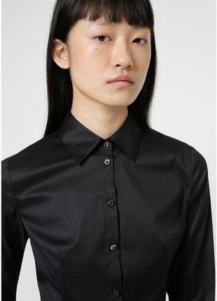 Фирменная базовая чёрная рубашка, р.40, 42
