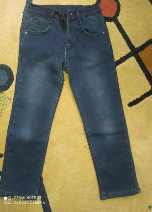 Утеплені джинси на флісі 6-7 років
