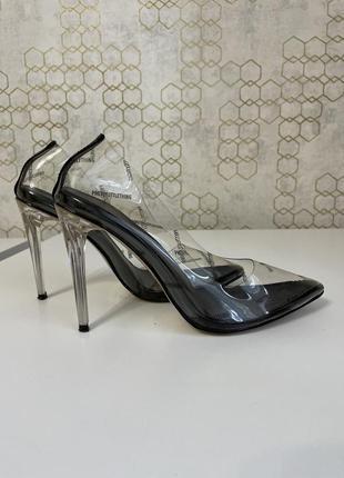 Прозрачные силиконовые туфли - лодочки plt