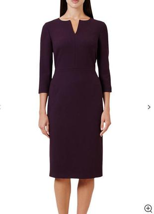Платье классическое миди цвета марсала hobbs размер 10