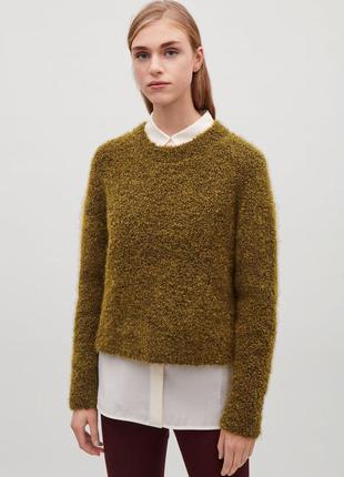 Шикарный тёплый шерстяной свитер от cos