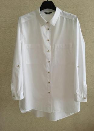 Белая рубашка в мужском стиле
