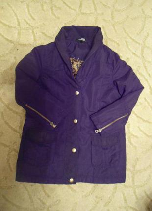 Красивое пальтишко куртка девочке 116 - 128