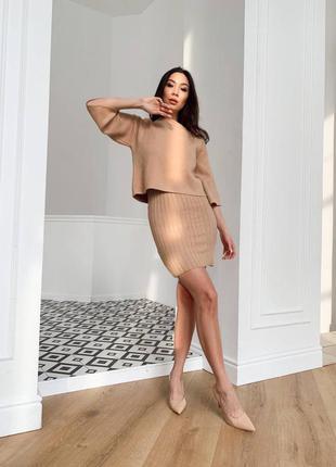 Комплект платье +свитер