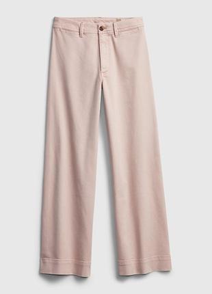 Gap широкие джинсы кюлоты пудрового цвета
